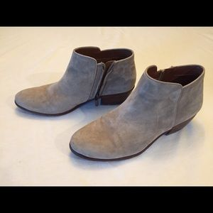 Sam Edelman grey suede ankle boots size 8